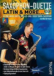 Saxophon-Duette - Latin & more. (mit CD) für Alt- (Eb) & Tenor-(Bb) Sax - Noten + Playalongs für Saxophonisten (Voll- & Halb-Playbacks)