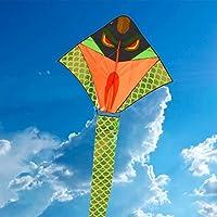 Allon Snake Kite para Niños Y Adultos - 1.3 Metros De Ancho - 10 Metros De Longitud, Gran Cometa Fácil De Volar Perfecto para Principiantes En La Playa - Bonus 50 Metros De Cadena