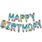 KUNGYO Banner de Globos de Feliz Cumpleaños - 16 Inch Happy Birt
