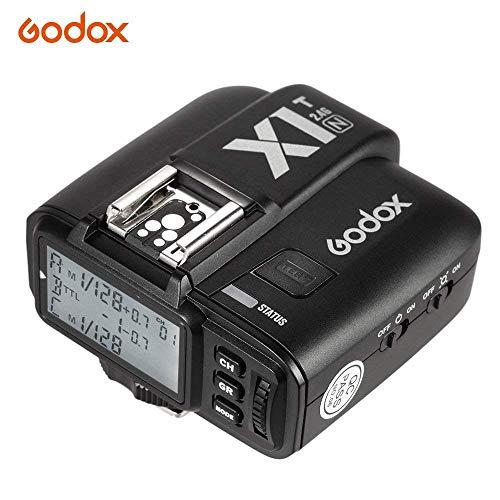 Godox X1T N Selens iTTL 2,4 GHz Wireless Hot Shoe Flash Trigger Transmitter mit HSS 32 Kanälen für Nikon DSLR Kamera, Schwarz Wireless Hot Shoe