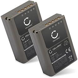CELLONIC 2X Batterie Premium Compatible avec Olympus Om-D E-M1, Om-D E-M5 (Mark II), Pen E-P5, Pen-F (1140mAh) BLN-1 Batterie de Recharge, Accu Remplacement