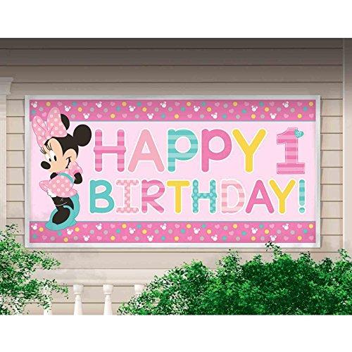 einem Geburtstag Banner werden (Banner Minnie Mouse)