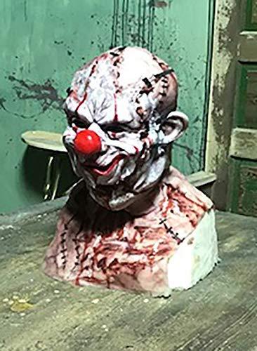 Mythic Airbrush Realistische Professionelle Silikon Power-Mesh Maske mit losreißen Zombie Clown-Gesicht Eine Grösse passt allen - Realistische Kostüm