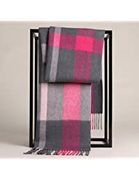 XIAOLIN-- Scarf Male Autumn And Winter Lattice Long Section 7 Colors --Outdoor warm scarf ( Color : E )
