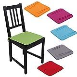 Stuhlkissen Stuhlauflage Sitzkissen Microfaser Auswahl: grün - apfelgrün