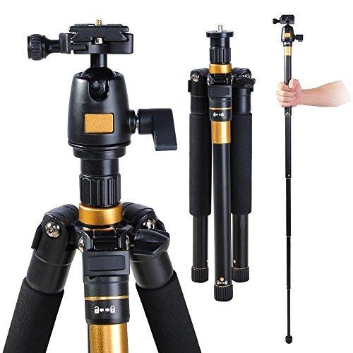 Adjustable-Pro-60-Inch-Tripod-Monopod-w-Ball-Head-For-DSLR-Camera-Travel-Aluminum