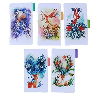 Pinhan DIY Crafts Index Tab Lose Blatt Register Register Notizbuch Zubehör Verzierung PVC, PVC, A6 Purple Deer, 17.5 * 10.5cm