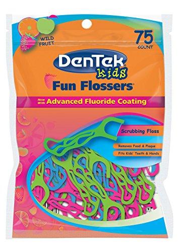 dentek-fun-flossers-for-kids-wild-fruit-floss-pickseasy-grip-for-kids75-count-by-dentek
