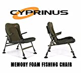 Cyprinus™ Memory Foam Lo-Chair Lightweight Arm chair for Carp Coarse Fishing very low