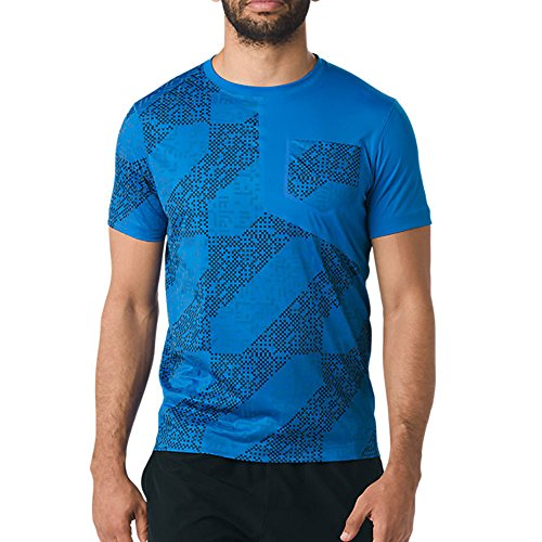Asics Lite Show Shortsleeve Top Lite Stripe Performance Black LITE STRIPE DIRECTOIRE BLUE