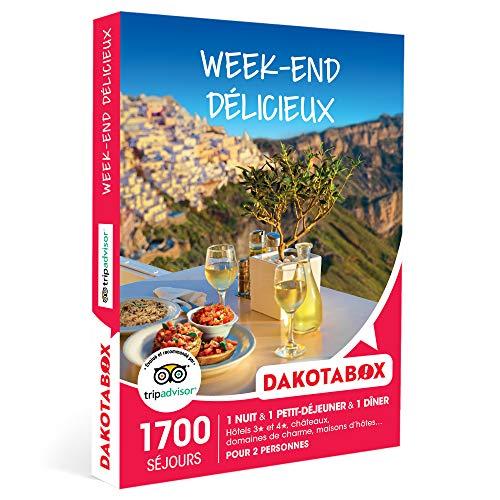 DAKOTABOX - Week-end délicieux - Coffret Cadeau Séjour Gourmand - 1 nuit avec...