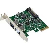 SEDNA - PCI Express 2 port USB 3.0 e adattatore - A basso profilo - (NEC/Renesas UPD720202 Chipset) - Connettore di alimentazione SATA