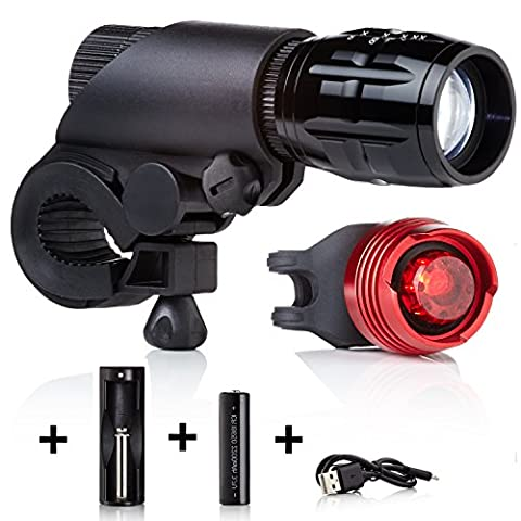 Rechargeable Bike Lights LED by Camden Gear Vivid XIII Bicycle