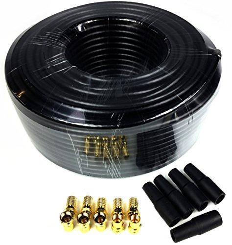 smartsat 30m cavo coassiale nero x130b 7,4mm incluso 10X F
