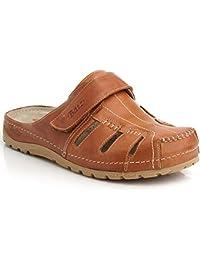 11bee0fd8587 Batz KZ Slip-On Leather Mens Sandals Clogs