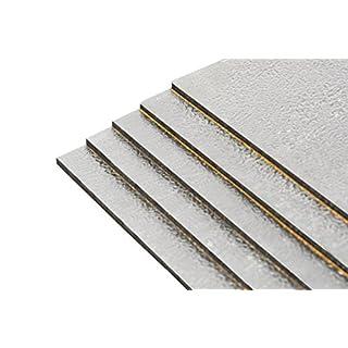 10 Stück Bitumenmatten + Alu, Antidröhnmatte, Dämmmatte Selbstklebend 500x200x2,8mm