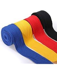 Moppi 2pcs 2.5m coton bandages de boxe de bandages poinçonnage des bandages pour les mains