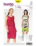 Burda 6508 Schnittmuster Kleid mit Überteil (Damen, Gr. 34-46) Level 1 super Easy