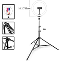 Geeky Bit™ Ring Light with Stand for Phone 7 Feet | LED Ringlight with Tripod for Photo Studio & Lighting and Video Shooting, Making Tiktok Stand with Light for Mobile | 10 Inch - 1 Year Warranty