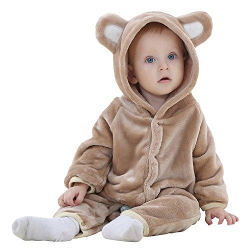 Lukis Kinder Tier Pyjamas Kostüme Tieroutfit Cosplay Jumpsuit Schlafanzug Mädchen Jungen Winter Nachtwäsche Braun Alter 19-24 - 24 Jungen Halloween-kostüme Alten Monate