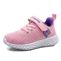 YUHUAWYH Boys Girls Trainers Shoes Kids Athletic Tennis Sneakers Lightweight Breathable Casual Running Shoes for Little Big Kid