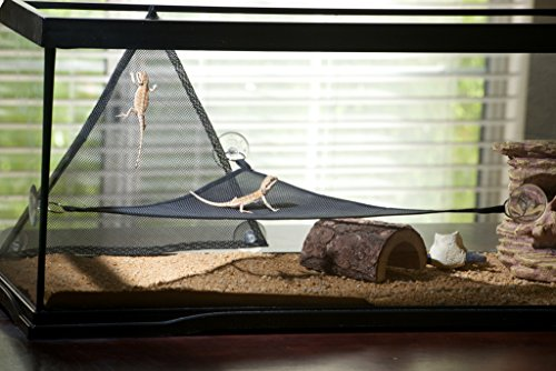 GenRev 2pc Reptile Hammock Lounger Accessories Set for Large & Small Bearded Dragons Anoles Geckos Lizards or Snakes… 2