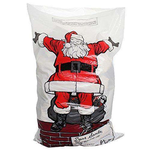 off Vater Weihnachten Santa sack-75X 50cm große Lagerhaltung Tasche für Geschenke und Geschenke (4Stück), Mehrfarbig, 30x 24,99x 0,61cm ()