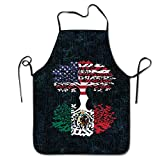 American Grown W Mexican Unisex Cooking Kitchen Aprons Chef Apron Bib