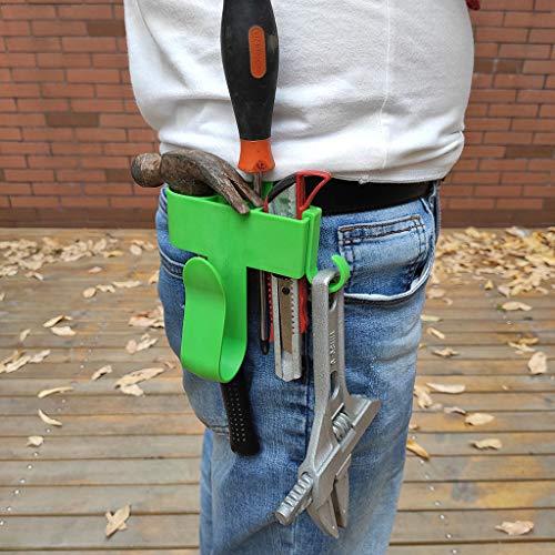 Taille Werkzeughalter Gürtel, Haken hängen Taille Multi-Portable Tool Kit Lithium-Elektroschrauber Bohrmaschine tragbares Regal,geringes Gewicht und tragbare eignet sich für Haus