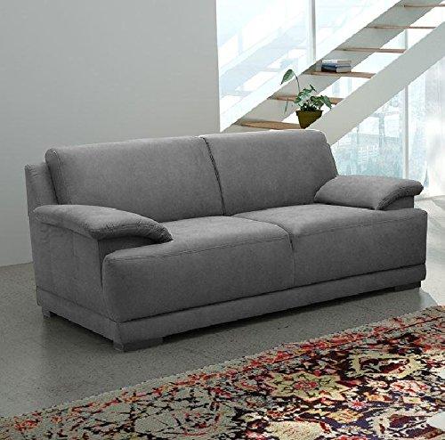 ALESSANDRIA 2er Boxspringsofa 2-Sitzer Sofa Couch Dunkelgrau