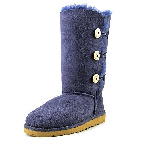 ugg-australia-bailey-button-triplet-navy-kids-boots-size-34-eu