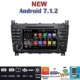 Android 7.1GPS DVD USB SD Wlan Bt Autoradio 2Din NAVI Mercedes C-Klasse W203/C220/C230/C240/C280/CLK-Klasse W209/CLK200CLK220/CLK 240/Mercedes Klasse CLC W203/W467/A209/W219