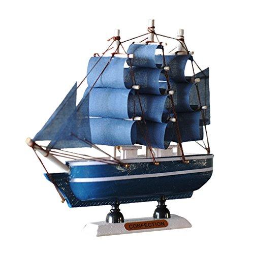 MagiDeal Nautische Schiffsmodell Piratenschiff aus Holz, Büro Arbeitszimmer Deko - FJ16015, 16cm (Piratenschiff Holz-modell-bausatz)