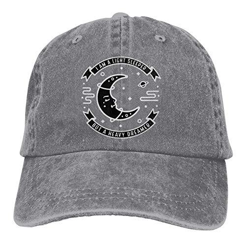Xdevrbk Light Sleeper Heavy Dreamer Unisex Washed Adjustable Vintage Cowboy Hat Denim Baseball Caps Unisex32 - Zurück Sleeper