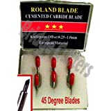 Set de cuchillas de carburo de tipo Roland, Canon y Refine para corte de 45 grados, 6 unidades
