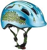 Abus Jungen Smiley 2.0 Fahrradhelm, Blue Croco, 50-55 cm