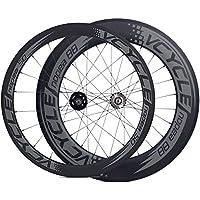 [VCYCLE nopea] 700C copertoncino ruote in fibra di carbonio fronte 50mm dietro 88mm bici da pista attrezzi fissi singola velocità route - Valvola In Fibra Di Carbonio