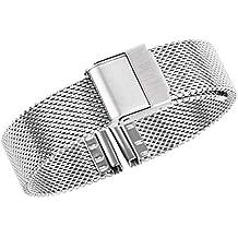 12f274867101 17mm Maille en métal argenté Bracelet de Montre de Luxe Milanese Bracelet  de Remplacement de la