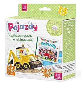 Pojazdy Ksiazeczka i cztery ukladanki Puzzle dla malucha