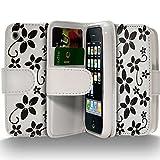 Seluxion - Housse Coque Etui Portefeuille pour Apple iPhone 3G/3GS Avec Motif Fleurs...