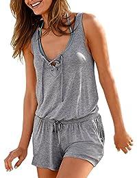 Chaleco de Mujer❤️EUZeo❤️Casual Vendaje sin Mangas Tirantes Camisa de Verano Tops Camiseta