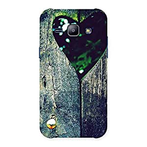 Enticing Wooden Vintage Print Back Case Cover for Galaxy J1