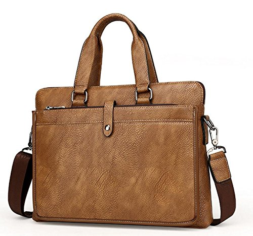 Borsa Di Affari Valigetta Borsa A Tracolla Di Affari Degli Uomini Bag Man Messenger Brown