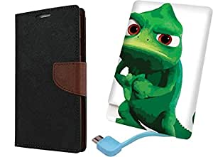 APE Wallet Cover and Printed Power Bank for Motorola Moto E3 Power