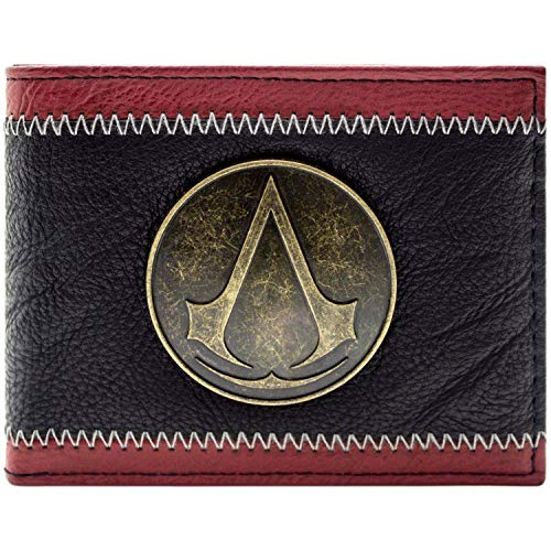 Assassins Creed Bronze Insignien Abzeichen Schwarz Portemonnaie - Assassin Creed Ezio Schwarz Kostüm