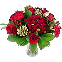 Gilded Christmas Bouquet with FREE Next Day Delivery - Fresh Flowers for Christmas