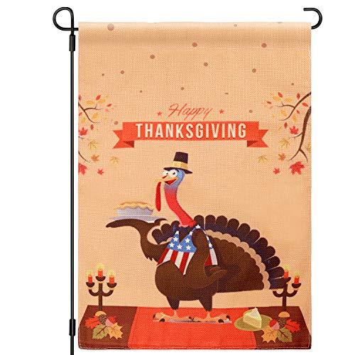 Gartenflagge Thanksgiving, zum Aufhellen Ihrer Gartendekoration, 45,7 x 30,5 cm, mit doppelseitigem Druck, Fall und Erntedank-Design für den Urlaub, saisonale Dekoration ()