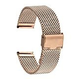 TRUMiRR 18mm Uhrenarmband Milanese Edelstahl-Band für Huawei Uhr, ASUS Zenwatch 2 Damen 1.45 '' WI502Q, Withings Activite/Pop 36mm, Fossil Q Tailor, 36mm Daniel Wellington, Nokia Steel HR 36mm