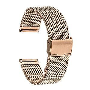 Galaxy Watch Active Armband, TRUMiRR 20mm Uhrenarmband Milanese Edelstahl Band Armband für Galaxy Watch 42 mm, Garmin Vivoactive 3, Ticwatch E, Huawei Watch 2(Sport)
