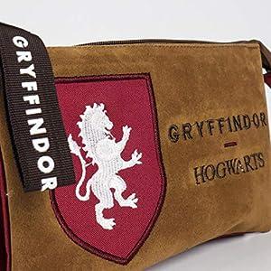 51KwlywZkpL. SS300  - Artesania Cerda Harry Potter Gryffindor, Estuche/Portatodo Plano 3 Compartimentos, 22 cm, Rojo